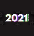 happy new 2021 year elegant design with neon vector image vector image