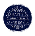 happy new year grunge banner with snowfall and vector image vector image