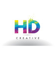 hd h d colorful letter origami triangles design vector image vector image