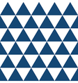 Indigo Blue White Triangle Background vector image