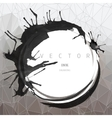 Ink drawing round frame vector image