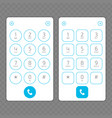 keypad for phone vector image vector image