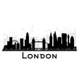 london city skyline black and white silhouette vector image vector image