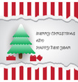 merry christmas and happy new year card eps10 vector image vector image