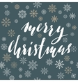 Merry Christmas lettering design with white vector image vector image