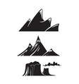 mountain peaks vector image vector image