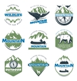 Outdoor Adventures And Tourism Colorful Logos vector image vector image