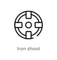 outline iron shoot icon isolated black simple vector image vector image