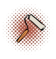 Paint roller comics icon vector image