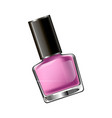 pink colored nail polish vector image vector image