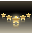 rating of five stars vector image