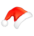red christmas hat vector image vector image