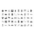 running sport race line icons set design vector image