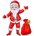 Santa Claus Wishing Christmas and New Year vector image vector image