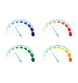 set of colored gauges vector image vector image