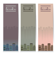 Set Of Three Buildings Vertical Banners vector image vector image