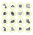 Set round icons of investment and finance vector image vector image
