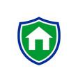 simple homeguard shield insurance symbol design vector image