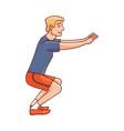 sketch man sportsman squat doing exercise vector image
