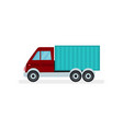small cargo truck urban transport automobile vector image vector image