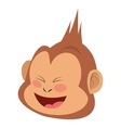smiling monkey cartoon icon vector image