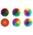 spectrum flowers vector image vector image