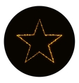 Star icon silhouette of gold lights vector image vector image