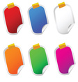 sticker set color on white vector image