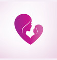stylized mom and baby symbol vector image vector image