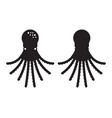 swimming octopus icon vector image