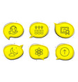 swipe up night weather and evaporation icons set vector image vector image