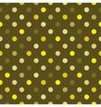 Tile green polka dots pattern or background vector image vector image