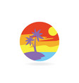 tropical island icon vector image vector image