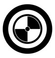 viking shield icon black color in circle round vector image vector image