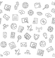 Web communication pattern black icons vector image vector image