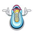 wink cartoon pair of casual sneakers vector image
