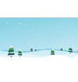 winter landscape with fir trees and snow vector image