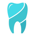wise tooth logo icon flat style vector image vector image