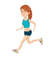 woman running character athlete vector image vector image