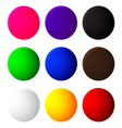 colorful balls web button icon on white background vector image