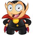 Vampire Mascot Hands On Hips vector image