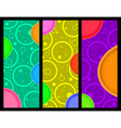 3 vertical banner with circles and circles with vector image vector image