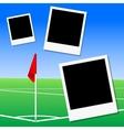 A football pitch corner flag