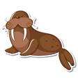 a walrus animal cartoon sticker