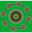 Aboriginal art background Green vector image vector image