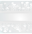 Abstract background with buildings vector image