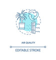 air quality blue concept icon