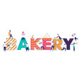 bakery typography banner template flat vector image