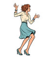 beautiful young business woman dancing vector image vector image