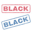 black textile stamps vector image vector image